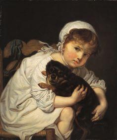 Jean-Baptiste Greuze, French painter (1725-1805).