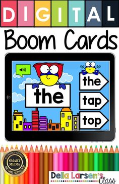 A fun new way for teaching sight words in your literacy and word work centers! Increase their reading fluency and build stronger readers. Boom cards are self-checking digital task cards, that provide… Teaching Sight Words, Teaching The Alphabet, Sight Word Games, Sight Word Activities, Work Activities, Word Work Centers, Literacy Centers, Writing Centers, Literacy Stations