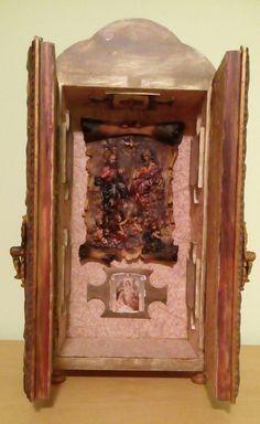 Oratório em madeira