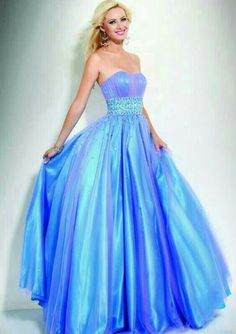 blue puffy long prom dresses… one of the prettiest dresses I've ...