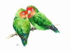 Resultado de imagem para watercolour painting in green