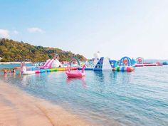8cfab400e2a3 Praia, Almofadas, Festa, Ilha Inflável, Unicórnio Bonito, Festa Unicórnio,  Coisas