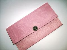 Clutch Purse Dusty Rose Scroll Unique Silver by JunebugOriginals, $29.75