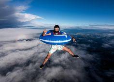 Inter tube sky dive