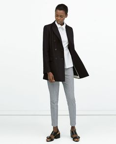 ZARA - COLLECTION SS15 - BUTTONED DOUBLE-BREASTED COAT