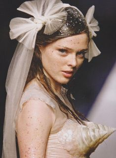 Coco rocha at jean paul gaultier couture s/s 2008 . http://chiffonandribbons.tumblr.com/post/63234462716/chiffonandribbons-coco-rocha-jean-paul