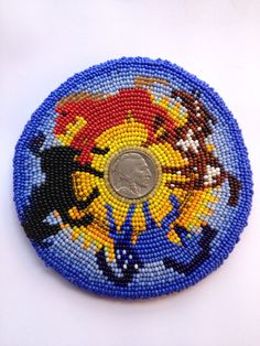 Liberty Embroidered Beadwork Barrette by SouthWillow on Etsy Indian Beadwork, Native Beadwork, Native American Beadwork, Native Beading Patterns, Loom Patterns, Peyote Patterns, Native American Crafts, Native American Design, Seed Bead Art