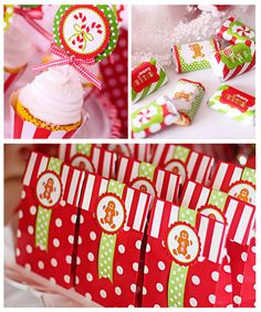 Red and White Candy Christmas Party Favors #christmas #partyfavors