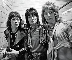 Ian McLagan RIP - Ronnie Wood  and Rod Stewart - The faces on tour in the US