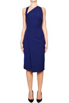 Shoulderless Mini Dress - NAVY | DION LEE LINE II |