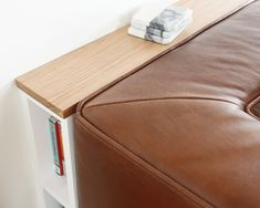 DIY Problem Solving: A Slim Behind-the-Sofa Console! DIY console behind the couch, skinny console storage solution Ikea Sofa Table, Couch Ikea, Behind Sofa Table, Diy Couch, Shelving Behind Couch, Diy Storage Sofa, Sofa Table With Storage, Console Storage, Lp Storage