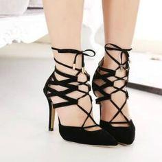 cf3eb40404fb Leather Lace Up High Heel Shoes. Strappy High HeelsStiletto HeelsStilettosWomen s  PumpsBlack HeelsShoes SandalsGladiator ...