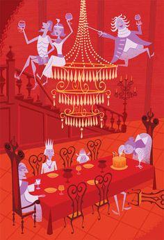 Art Tributes for Disneyland Rides - It's hard to believe that Disneyland's Haunted Mansion ride is celebrating its anniversary next year. Haunted Mansion Disney, Haunted Mansion Halloween, Walt Disney, Disney Magic, Disney Art, Disney Pixar, Disney Theme, Retro Disney, Vintage Disney