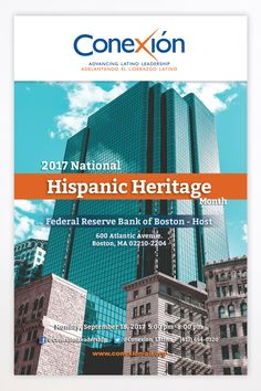 Once again, we had the great opportunity to work with Conexión, an organization founded to develop Hispanic and Latino leaders into strategic, innovative executives who lead organizations to harness the positive impact of the expanding Hispanic/Latino presence and create a national network of exceptional leaders. One of our latest collaborations was the design of their brochure for the 2017 National Hispanic Heritage program.