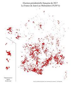 I Made An HD Map Of Every Single City Won By Emmanuel Macron - Hd us election map