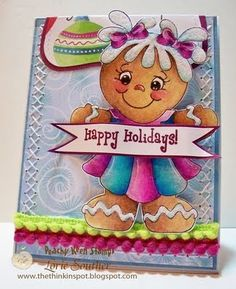 PK-417 Faceless Gingerbread Doll Large: Peachy Keen Stamps   Home of the original clear, peach-tinted, high-quality whimsical face stamps.