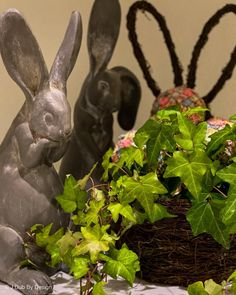 Use live plants and bunnies to create the perfect centerpiece for your Easter dining table and kitchen easter decor vignettes. Visit www. jdubbydesign.com for more holiday decor ideas and inpiration. easter ideas easter decor crafts decorations for easter easter day crafts easter home decor decorating for spring diy decor spring spring ideas spring decor diy diy for spring Easter Decor, Easter Ideas, Easter Crafts, Spring Design, Live Plants, Decor Crafts, Vignettes, Bunnies, Centerpieces