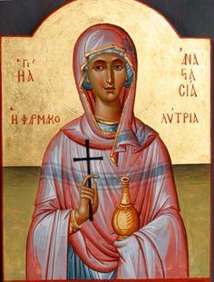 St. Anastasia the Healer of Sirmium by Chrousis Georgios - December 22