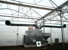# greenhouses heating : hot air generator pellets 350kw. #Incalzire sera :generator de aer cald peleti 350kw