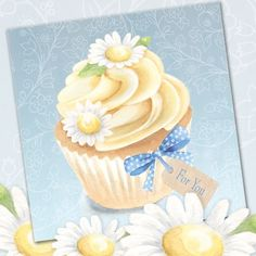Blank so suitable for many occasions. or each when you buy cards of any design. Daisy Cakes, Food Illustrations, Stationery, Greeting Cards, Gift Wrapping, Tableware, Phoenix, Gifts, Spring 2015