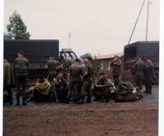 About to get onboard the Bedfords for Waterkloof. Some of the mortar section are in view including George, Matthew (extreme right) and Marius. West Africa, South Africa, The Bedford, Brothers In Arms, Defence Force, Military Life, My Heritage, Troops, Southern