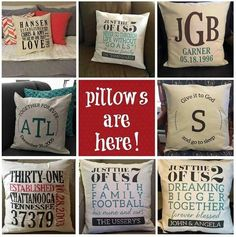 Pillows are here!  What will yours say?  www.mythirtyone.com/foxytotes14