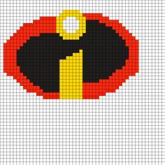 The_Incredibles_Logo_Perler by Izzym805 on Kandi Patterns