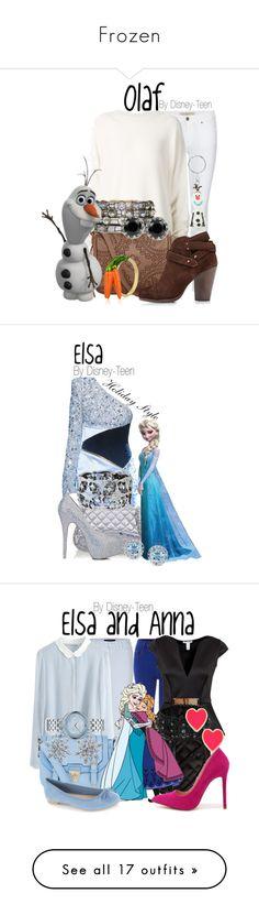 """Frozen"" by disney-teen ❤ liked on Polyvore featuring Burberry, URBAN ZEN, T-shirt & Jeans, Disney, rag & bone, Betsey Johnson, women's clothing, women's fashion, women and female"