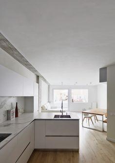 Cocina - Una antigua oficina convertida en vivienda