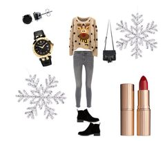 natal 🎄🎄🎄 by ana-almeida-ii on Polyvore featuring polyvore fashion style M.i.h Jeans Lucky Brand Chicnova Fashion Versace BERRICLE Charlotte Tilbury clothing