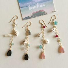 Sea shells ocean earrings