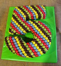 Number cake - Lacasitos