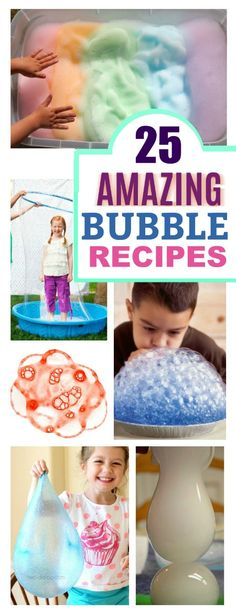 TONS of fun ways for kids to play with bubbles! {Recipes, experiments, & more!}