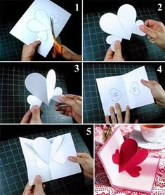 Az itt látható - Anyák napjára, vagy Valentin napra ajándék ötletként bemutatott - három dimenziós képeslap elkészítéséhez az alábbiak szük...