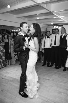 Black and White Photo of The First Dance. Bride and Groom Laughing at each other. Bridgehampton Tennis and Surf Club Wedding Photos    #beachwedding #hamptonswedding #nycweddingphotographer #weddingphotography Beach Wedding Photos, Sunset Wedding, Nyc Wedding Photographer, Wedding Photography, Groom And Groomsmen Tuxedos, Wedding Venues Toronto, Davids Bridal Bridesmaid, Hamptons Wedding, Wedding Insurance
