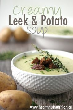 A delicious creamy dairy free Leek and Potato Soup.