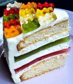 Die bunte Welt von HARIBO weckt Fantasie! Lassen Sie sich von unseren Köstlichkeiten verzaubern und inspirieren. Kreieren Sie grandiose Rezeptideen, Ihrer Kreativität sind keine Grenzen gesetzt… Gummy Bear Cakes, Gummy Bears, Fancy Cakes, Amazing Cakes, Vanilla Cake, Frosting, Cake Decorating, Cheesecake, Goodies