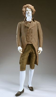 Man's ensemble, American, 1795-1800.