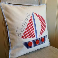 Applique Boat Cushion: