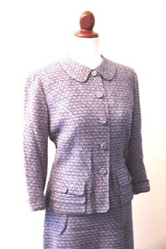 Davidow suit, Blue Peter Pan Collar Suit