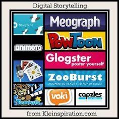 Kleinspiration: 10 Apps  Sites for Digital Storytelling  more!