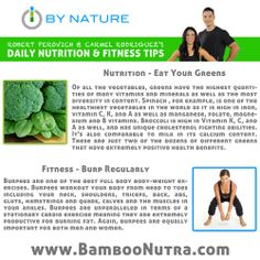 Daily Nutrition & Fitness Tip - Greens & Burpees