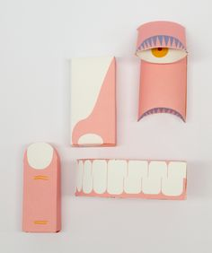 """Emmelie Golabiewski has created this beautiful packaging for children called """"Children Pharmacy"""" and offering everything needed for the smaller keep their teeth clean. Kids Packaging, Paper Packaging, Brand Packaging, Clever Packaging, Innovative Packaging, Porno, Design Graphique, Tissue Boxes, Packaging Design Inspiration"""