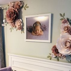 Lilac and Blush Nursery Wall Paper Flowers - Paper Flowers wall Decor - Paper Flower Wall Decor - Nursery paper flowers (Code: Paper Flower Art, Large Paper Flowers, Paper Flowers Wedding, Paper Flower Backdrop, Wedding Paper, Blush Nursery, Flower Nursery, Photo Rose, Art Mural