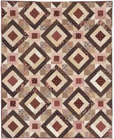 lovely quilt - 2 blocks create an illusion of blocks on point