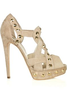 brian atwood gold studs - W/ JEANS AND A CUTE TOP