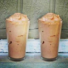 Tastes like a Wendy's Frosty and is lactose free! 3/4 cup almond milk, 15 ice cubes, 1/2 tsp vanilla, 1-2 tbsp unsweetened cocoa powder, 1/3 banana. Blend and enjoy!