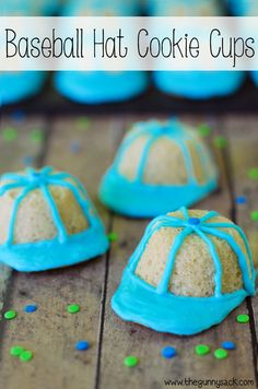 Baseball Hat Cookie Cups from The Gunny Sack