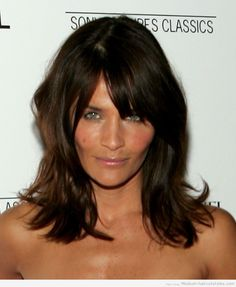 Mid Length Hairstyles With Bangs For Women Over 40 | medium length hairstyles with bangs for women over 40 (1)