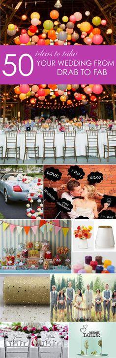 50 Ideas to take your wedding from drab to fab! http://www.ebay.com/gds/50-Ideas-to-Take-Your-Wedding-From-Drab-to-Fab-/10000000204629874/g.html?roken2=ti.pQ3Jpc3N5IEFycGllIE90dA==